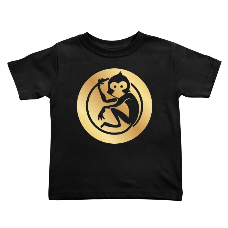 Monkey Gold Large Logo Kids Toddler T-Shirt by The m0nk3y Merchandise Store
