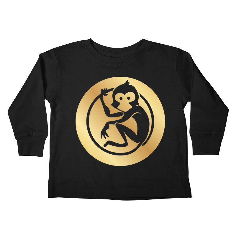 Monkey Gold Large Logo Kids Toddler Longsleeve T-Shirt by The m0nk3y Merchandise Store