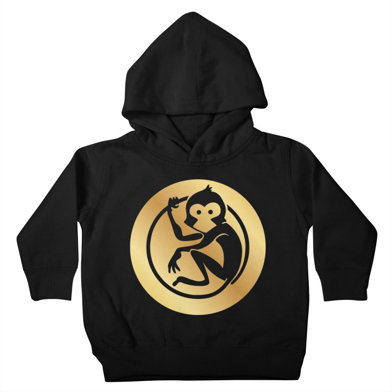 Monkey Gold Large Logo Kids Toddler Pullover Hoody by The m0nk3y Merchandise Store