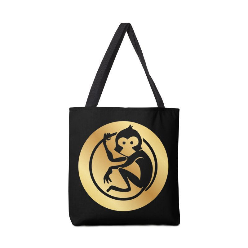 Monkey Gold Large Logo Accessories Bag by The m0nk3y Merchandise Store