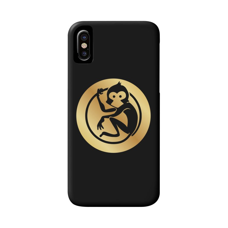Monkey Gold Large Logo Accessories Phone Case by The m0nk3y Merchandise Store