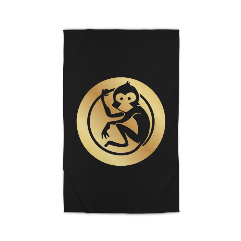 Monkey Gold Large Logo Home Rug by The m0nk3y Merchandise Store