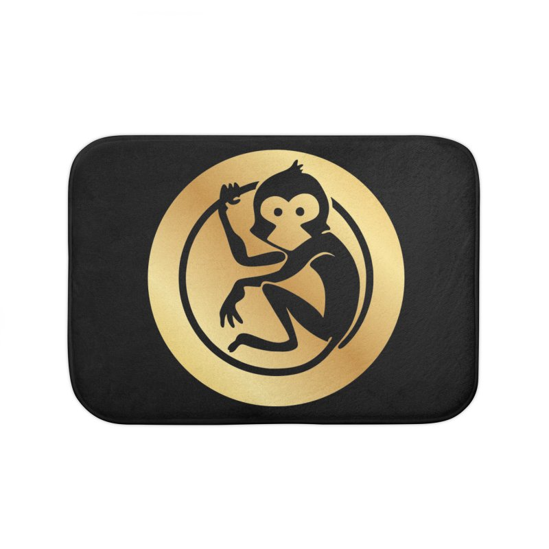 Monkey Gold Large Logo Home Bath Mat by The m0nk3y Merchandise Store