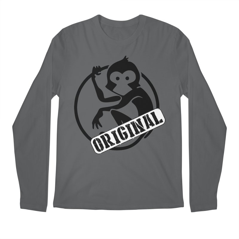 Monkey Original Large Logo Men's Longsleeve T-Shirt by The m0nk3y Merchandise Store
