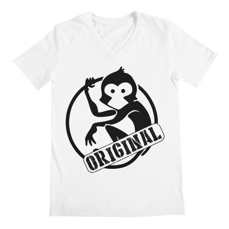 Monkey Original Large Logo Men's V-Neck by The m0nk3y Merchandise Store