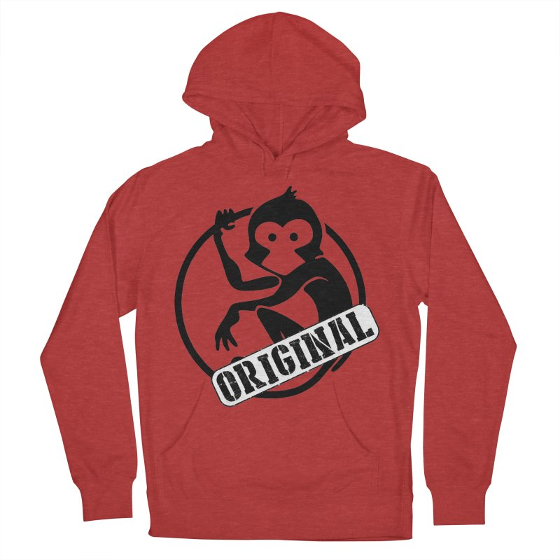 Monkey Original Large Logo Women's French Terry Pullover Hoody by The m0nk3y Merchandise Store