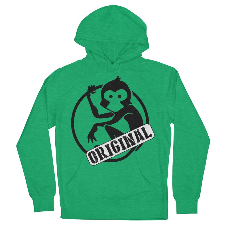Monkey Original Large Logo Men's French Terry Pullover Hoody by The m0nk3y Merchandise Store