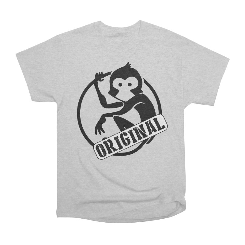 Monkey Original Large Logo Women's Heavyweight Unisex T-Shirt by The m0nk3y Merchandise Store