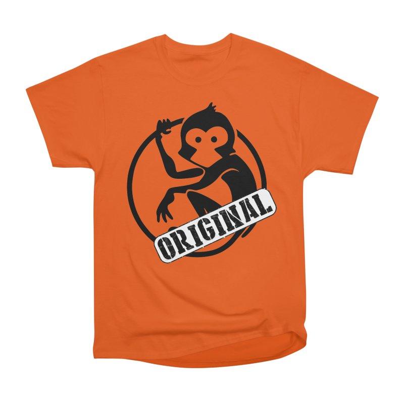 Monkey Original Large Logo Men's Heavyweight T-Shirt by The m0nk3y Merchandise Store