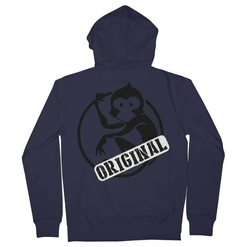 Monkey Original Large Logo Women's French Terry Zip-Up Hoody by The m0nk3y Merchandise Store