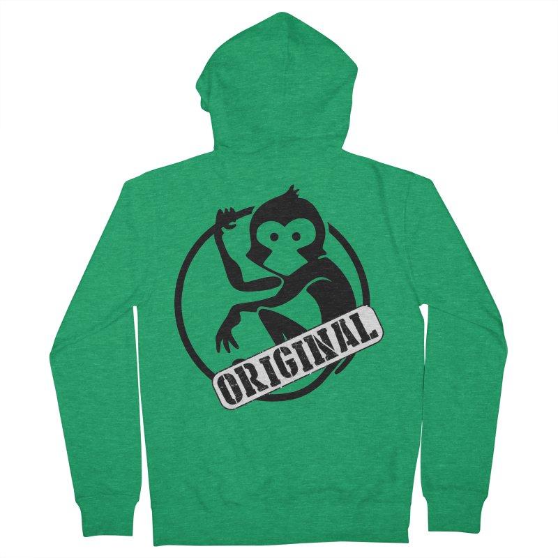 Monkey Original Large Logo Men's Zip-Up Hoody by The m0nk3y Merchandise Store