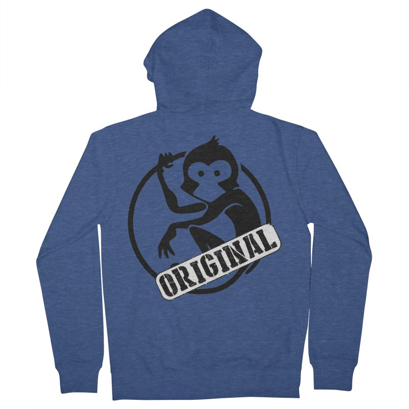 Monkey Original Large Logo Men's French Terry Zip-Up Hoody by The m0nk3y Merchandise Store