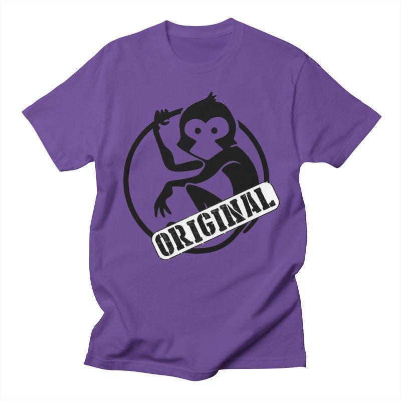 Monkey Original Large Logo Men's Regular T-Shirt by The m0nk3y Merchandise Store