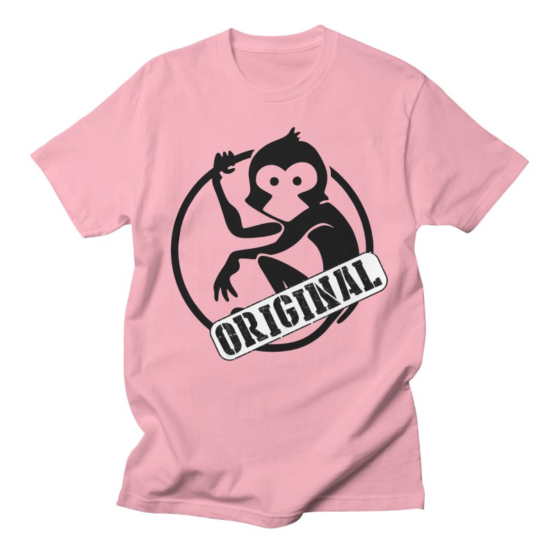 Monkey Original Large Logo Men's Regular T-Shirt by The m0nk3y Merchandise Store