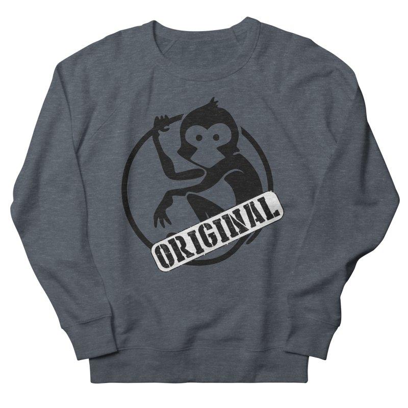 Monkey Original Large Logo Women's French Terry Sweatshirt by The m0nk3y Merchandise Store