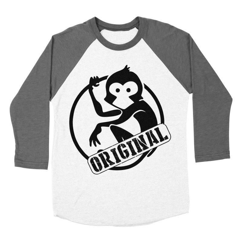 Monkey Original Large Logo Women's Baseball Triblend Longsleeve T-Shirt by The m0nk3y Merchandise Store