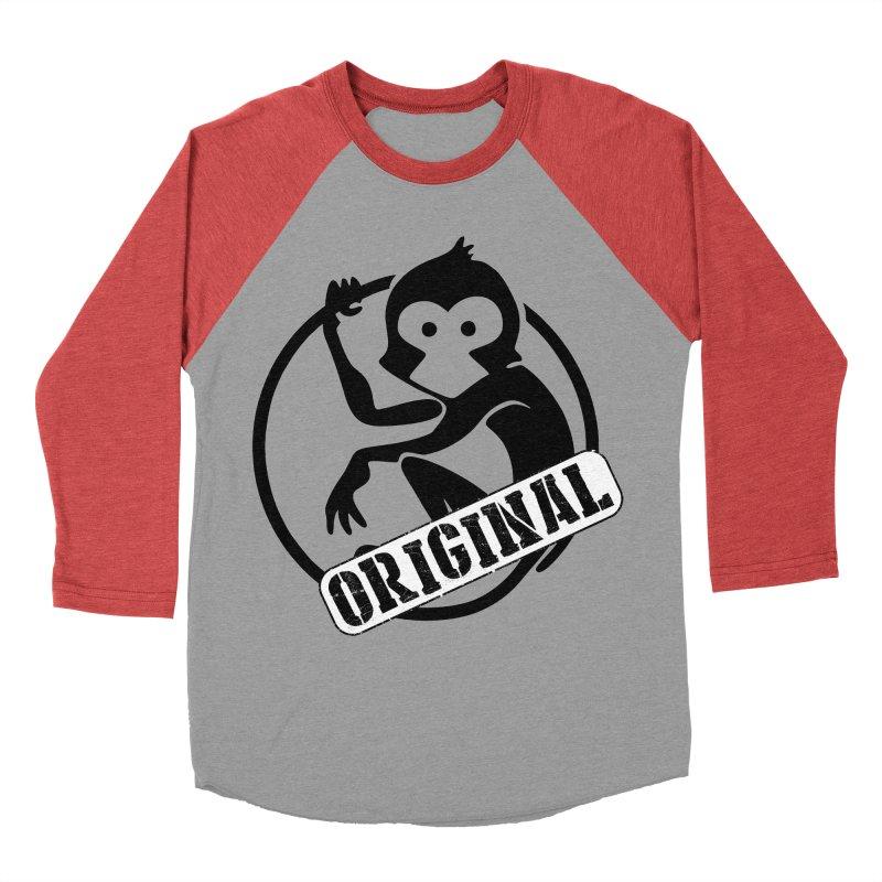 Monkey Original Large Logo Men's Baseball Triblend Longsleeve T-Shirt by The m0nk3y Merchandise Store