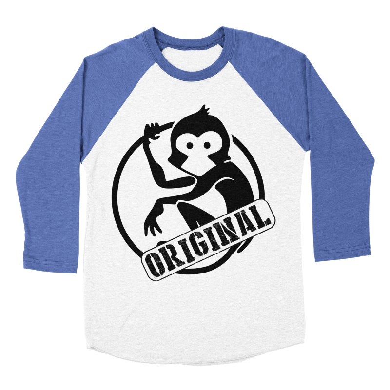 Monkey Original Large Logo Men's Baseball Triblend Longsleeve T-Shirt by The m0nk3y Merchandise Store