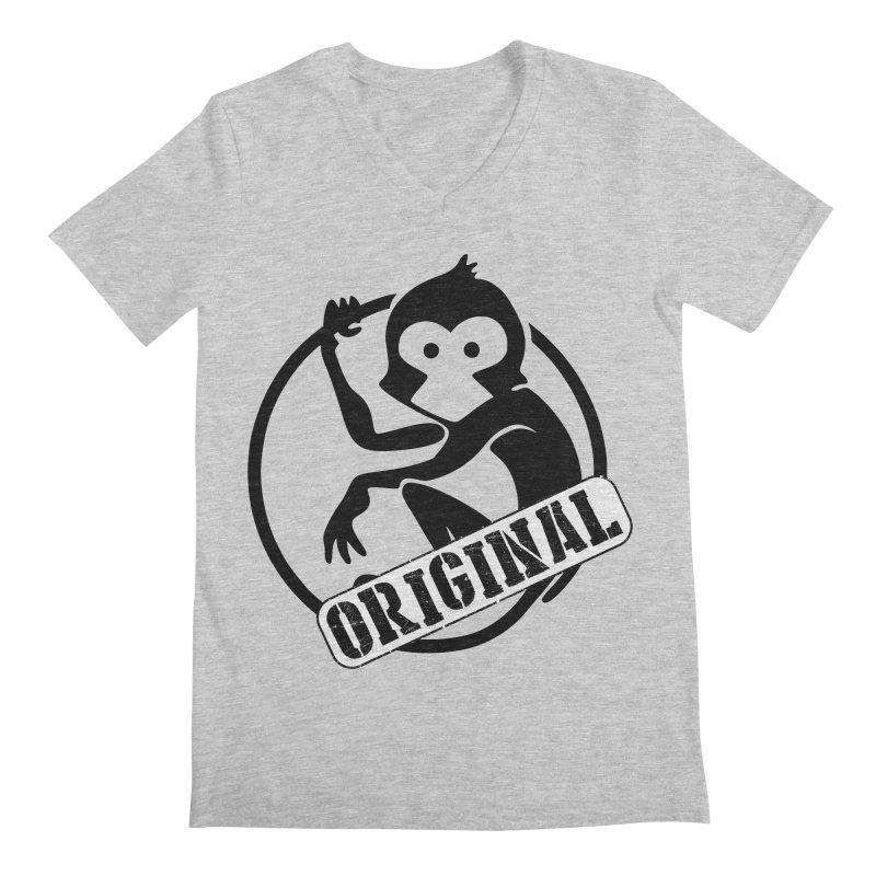 Monkey Original Large Logo Men's Regular V-Neck by The m0nk3y Merchandise Store