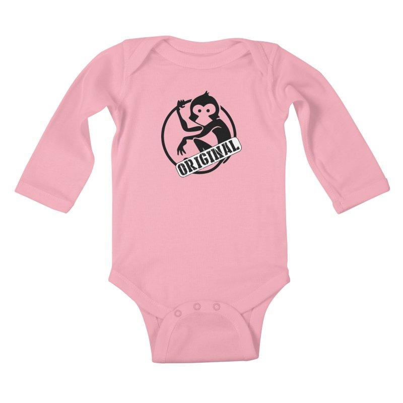 Monkey Original Large Logo Kids Baby Longsleeve Bodysuit by The m0nk3y Merchandise Store