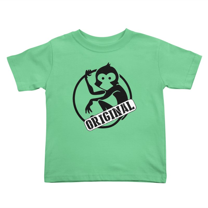 Monkey Original Large Logo Kids Toddler T-Shirt by The m0nk3y Merchandise Store