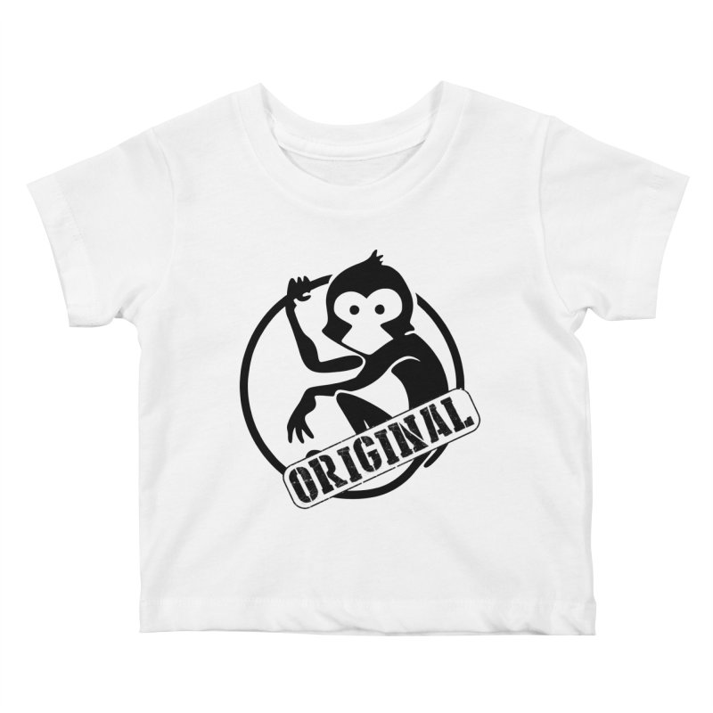 Monkey Original Large Logo Kids Baby T-Shirt by The m0nk3y Merchandise Store
