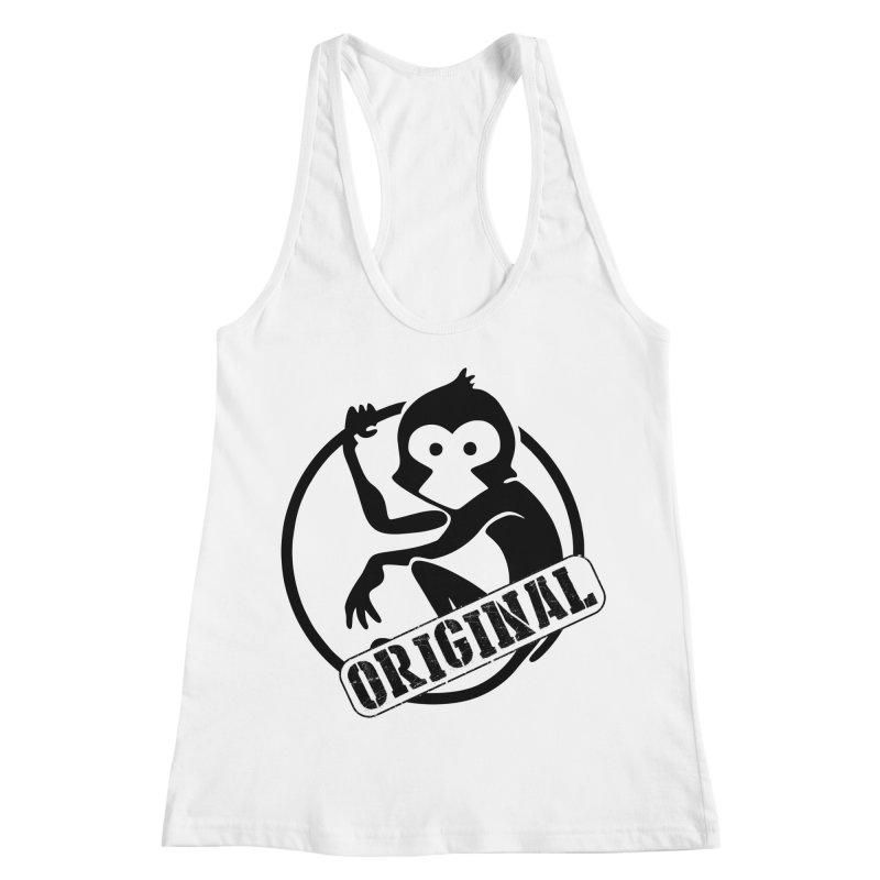 Monkey Original Large Logo Women's Racerback Tank by The m0nk3y Merchandise Store