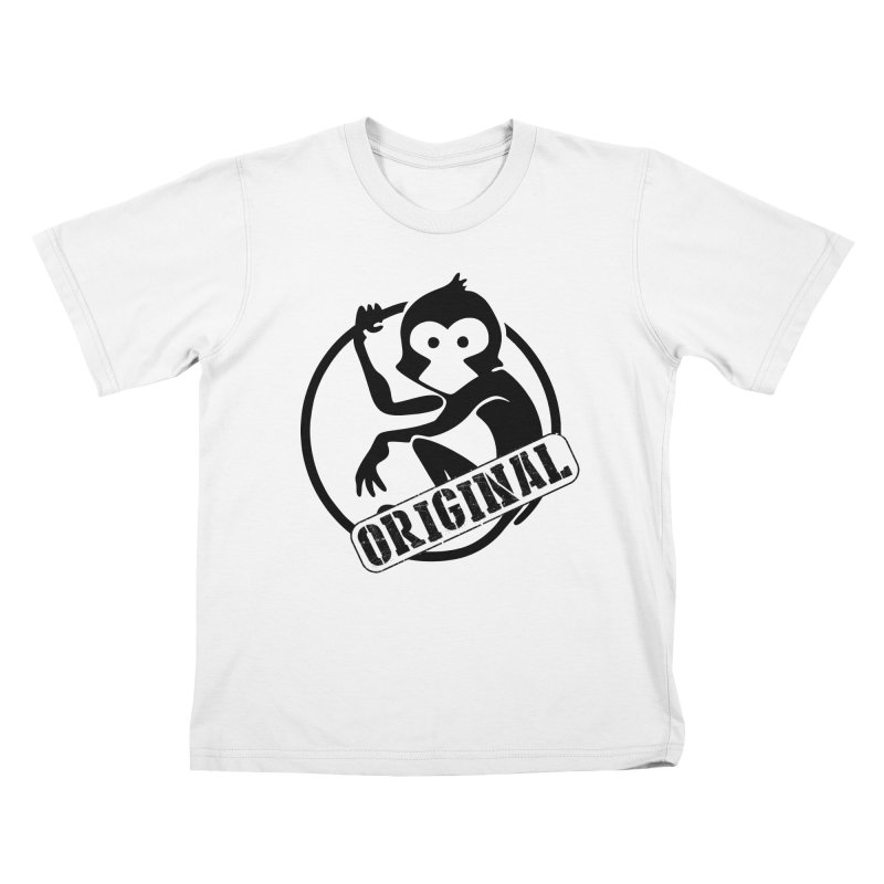 Monkey Original Large Logo Kids T-Shirt by The m0nk3y Merchandise Store