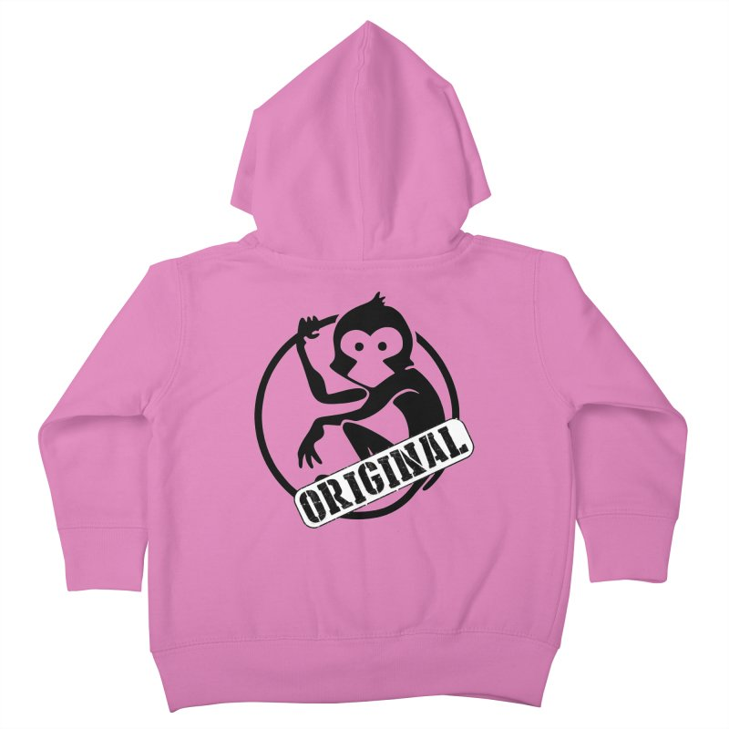 Monkey Original Large Logo Kids Toddler Zip-Up Hoody by The m0nk3y Merchandise Store