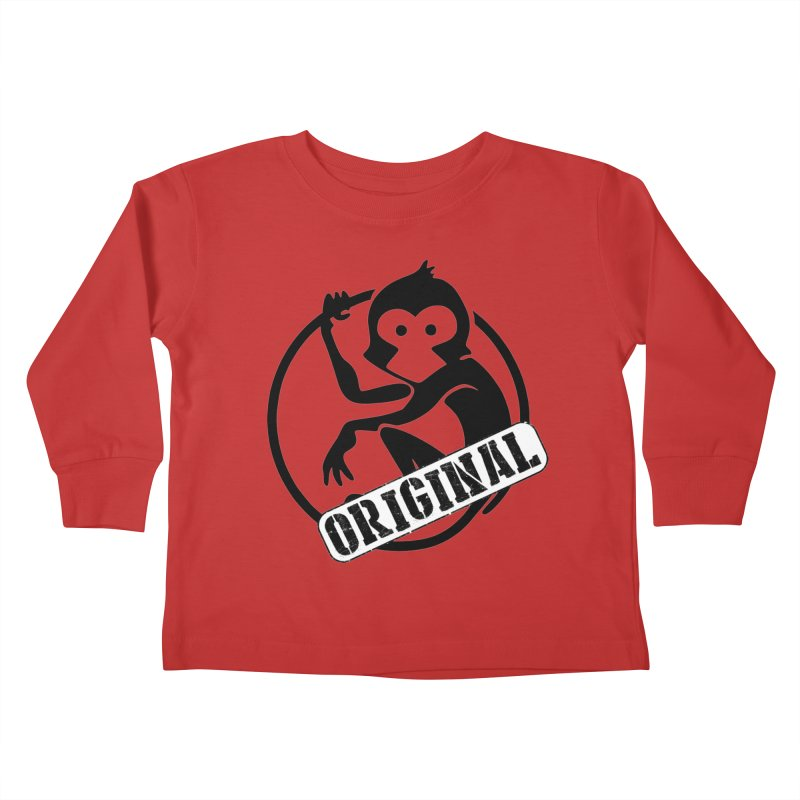 Monkey Original Large Logo Kids Toddler Longsleeve T-Shirt by The m0nk3y Merchandise Store