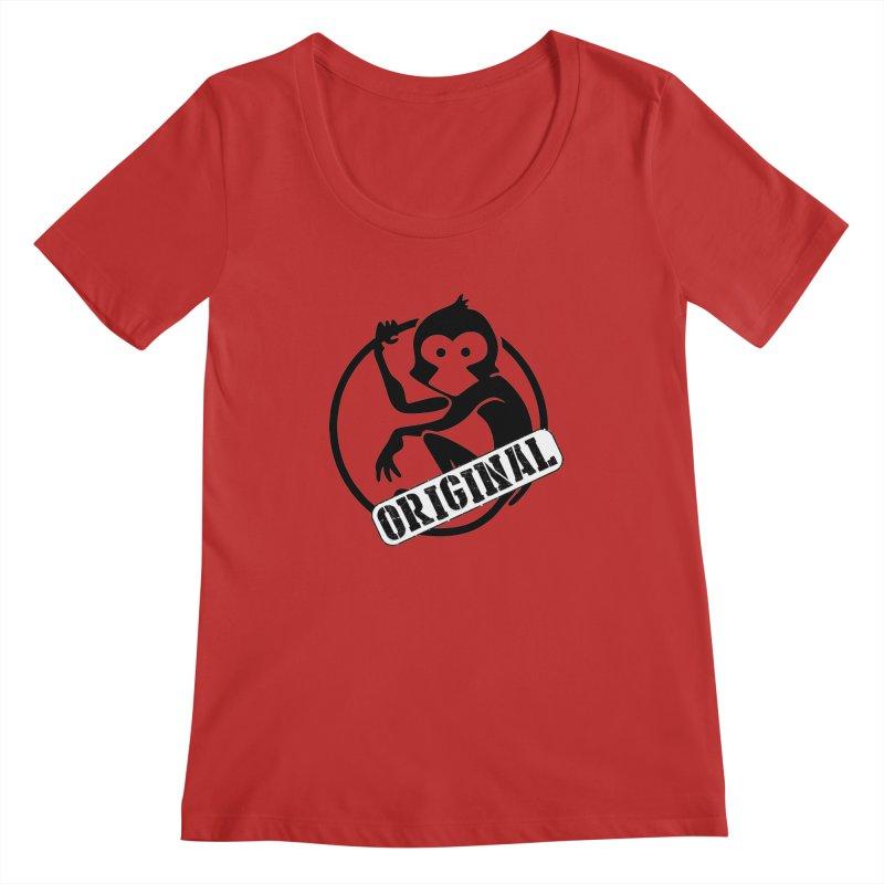 Monkey Original Large Logo Women's Regular Scoop Neck by The m0nk3y Merchandise Store