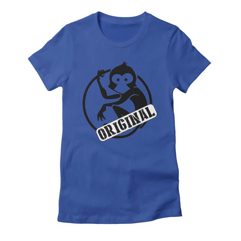 Monkey Original Large Logo Women's Fitted T-Shirt by The m0nk3y Merchandise Store