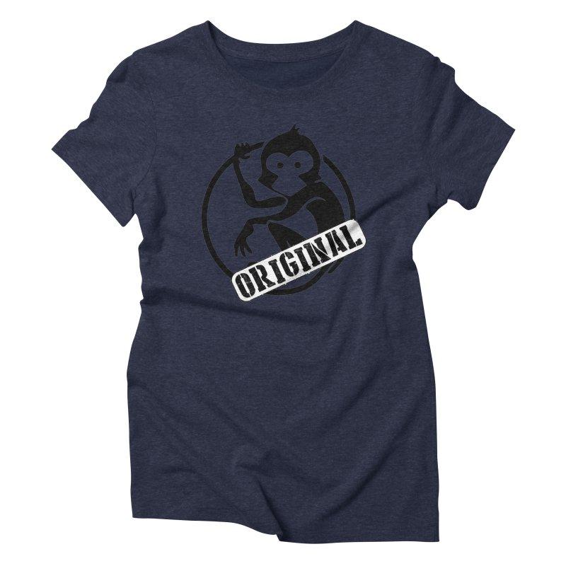 Monkey Original Large Logo Women's Triblend T-Shirt by The m0nk3y Merchandise Store