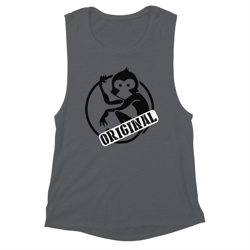Monkey Original Large Logo Women's Tank by The m0nk3y Merchandise Store