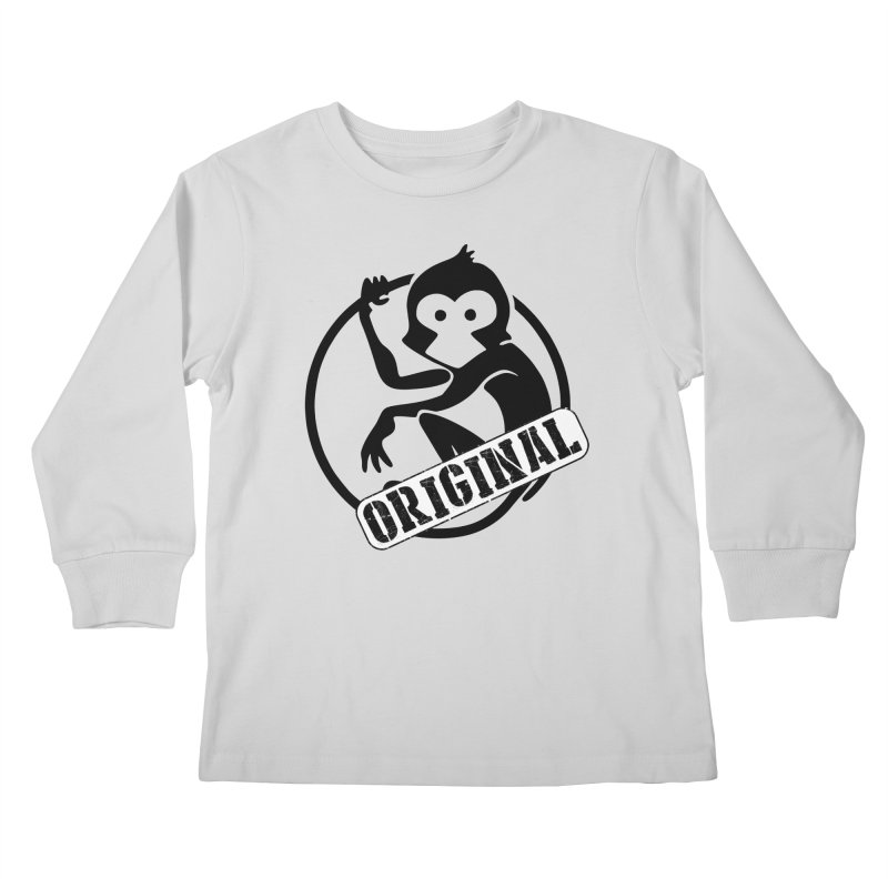 Monkey Original Large Logo Kids Longsleeve T-Shirt by The m0nk3y Merchandise Store