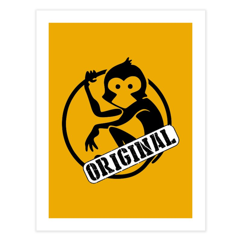 Monkey Original Large Logo Home Fine Art Print by The m0nk3y Merchandise Store