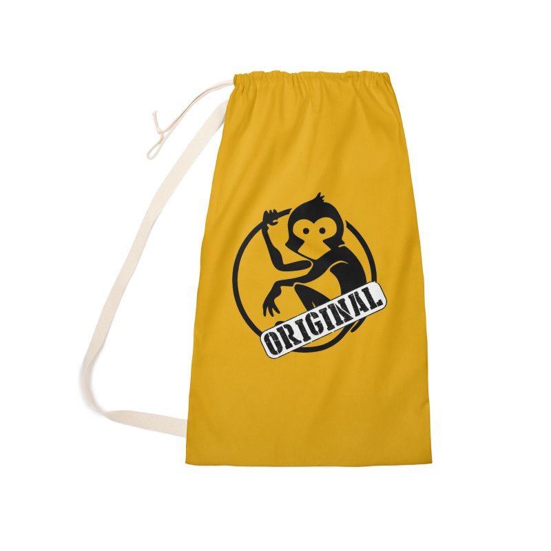 Monkey Original Large Logo Accessories Laundry Bag Bag by The m0nk3y Merchandise Store