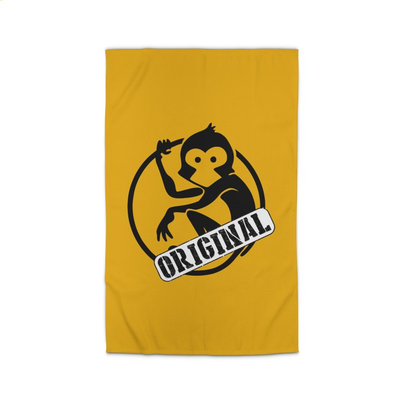 Monkey Original Large Logo Home Rug by The m0nk3y Merchandise Store