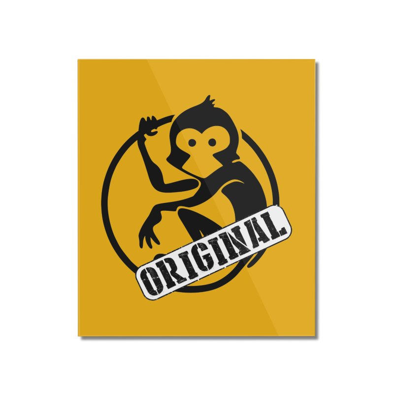 Monkey Original Large Logo Home Mounted Acrylic Print by The m0nk3y Merchandise Store