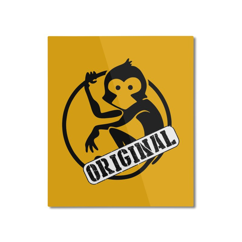 Monkey Original Large Logo Home Mounted Aluminum Print by The m0nk3y Merchandise Store