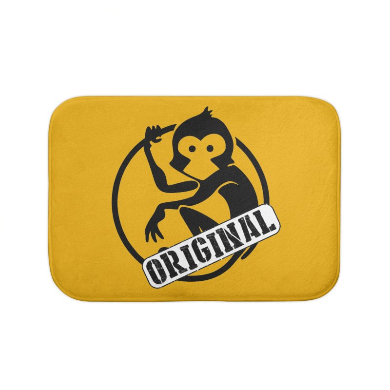 Monkey Original Large Logo Home Bath Mat by The m0nk3y Merchandise Store