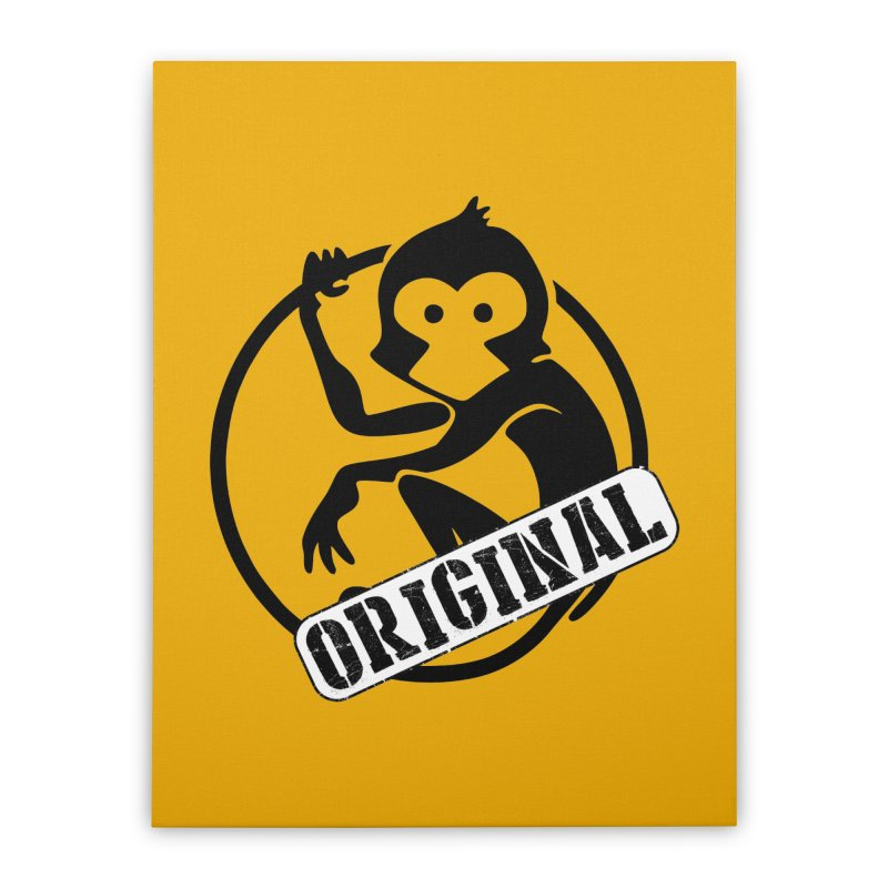Monkey Original Large Logo Home Stretched Canvas by The m0nk3y Merchandise Store