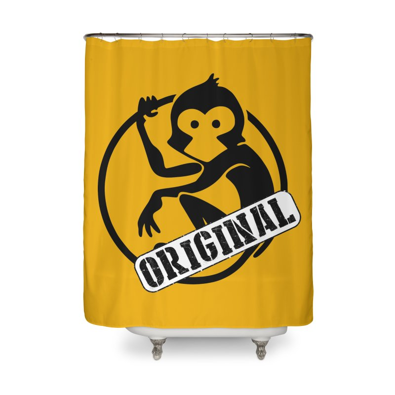 Monkey Original Large Logo Home Shower Curtain by The m0nk3y Merchandise Store