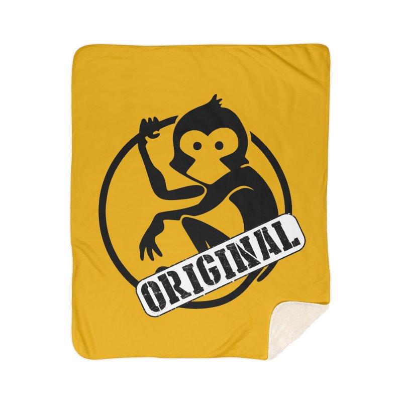 Monkey Original Large Logo Home Sherpa Blanket Blanket by The m0nk3y Merchandise Store