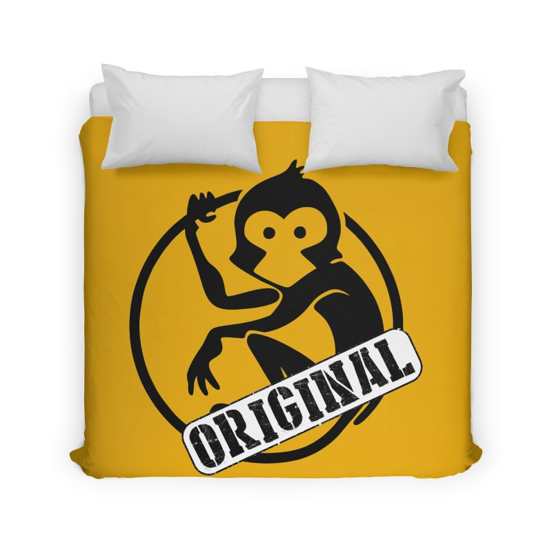 Monkey Original Large Logo Home Duvet by The m0nk3y Merchandise Store