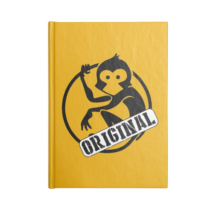 Monkey Original Large Logo Accessories Blank Journal Notebook by The m0nk3y Merchandise Store