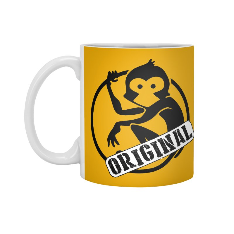 Monkey Original Large Logo Accessories Mug by The m0nk3y Merchandise Store