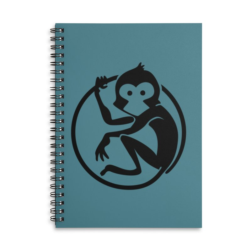 Monkey Accessories Lined Spiral Notebook by The m0nk3y Merchandise Store
