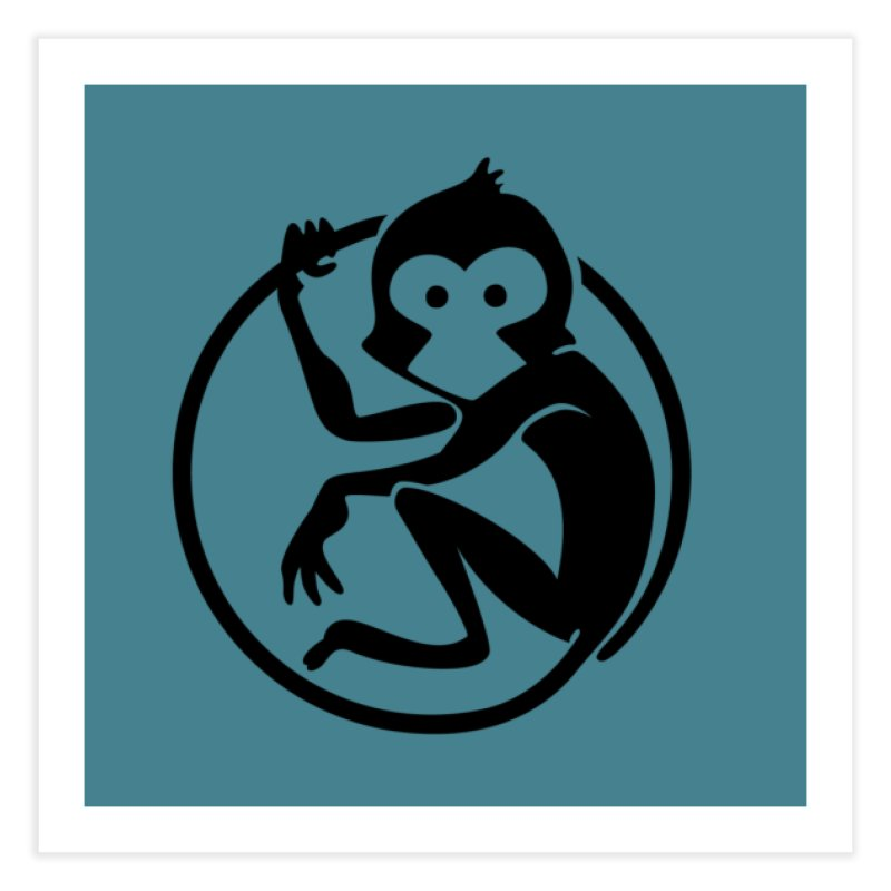 Monkey Home Fine Art Print by The m0nk3y Merchandise Store
