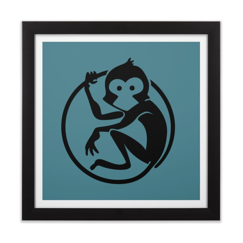 Monkey Home Framed Fine Art Print by The m0nk3y Merchandise Store